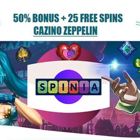 Zondag reload bonus van 50% bij Spinia Casino